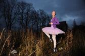 Tänzerin in turnschuhen — Stockfoto