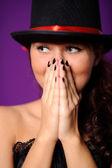 人気モデル ・ ヨンア美容女性の肖像画 — ストック写真