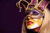 Portrait of sexy woman in party mask — Stock Photo
