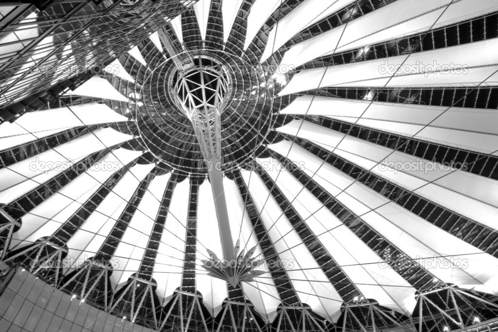 The roof of Sony Center in Berlin — Stock Photo #5077595