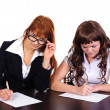 Two business women working together — Stock Photo