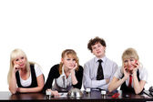 Boring business team — Stock Photo