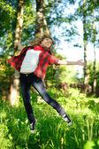 跳跃的女人 — 图库照片