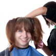 Work of the hairdresser — Stock Photo