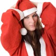 In a suit of Santa Claus — Stock Photo #3963200