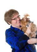 Beso de un perro favorito — Foto de Stock