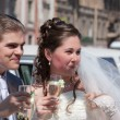 Happy newly-married couple — Stock Photo