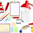 Collection of office objects — Stock Vector