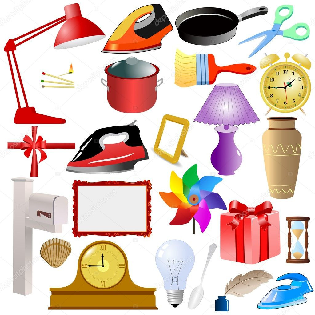 Stock Illustration Set Of Of Home Objects on House Plans