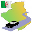 Roads of Algeria — Stock Vector