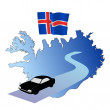 Roads of Iceland — Stock Vector