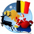 Merry Christmas, Belgium! — Stock Vector