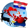 Merry Christmas, Croatia! — Stock Vector