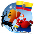 Merry Christmas, Ecuador! — Stock Vector