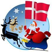 Merry Christmas, Denmark! — Stock Vector