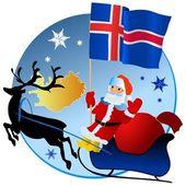 圣诞快乐冰岛! — 图库矢量图片