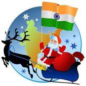 God jul, Indien! — Stockvektor
