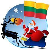 Merry Christmas, Lithuania! — Stock Vector
