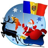 Merry Christmas, Moldova! — Stock Vector