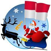 Merry Christmas, Monaco! — Stock Vector