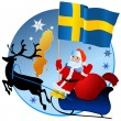 Merry Christmas, Sweden! — Stok Vektör