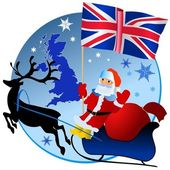 Merry Christmas, United Kingdom! — Stock Vector