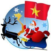 Merry Christmas, Vietnam! — Stockvektor