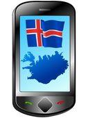 Conexão com a islândia — Vetor de Stock