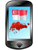 Conexión con singapur — Vector de stock