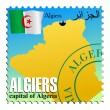 Algiers - capital of Algeria — Stock Vector
