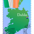 Dublin - capital of Ireland — Stock Vector