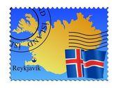 冰岛首都雷克雅未克 — 图库矢量图片
