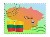 Vilnius - capital of Lithuania — Stock Vector