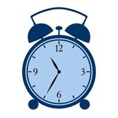 Symbolic alarm clock — Stock Vector