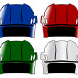 Wektor stockowy : Set of hockey helmet