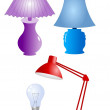 Royalty-Free Stock Vector Image: Set of desklamp