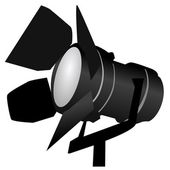 Black spotlight — Stock Vector