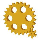 3d gear — Stock Vector