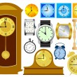 Set of clocks — Stock Vector
