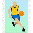 Basketball. Vector stamp — Stock Vector