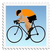Cycling. Vector stamp — Stock Vector