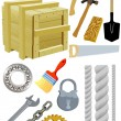Different tools — Stock Vector