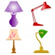 Set of table lamps — Stock Vector #4962024