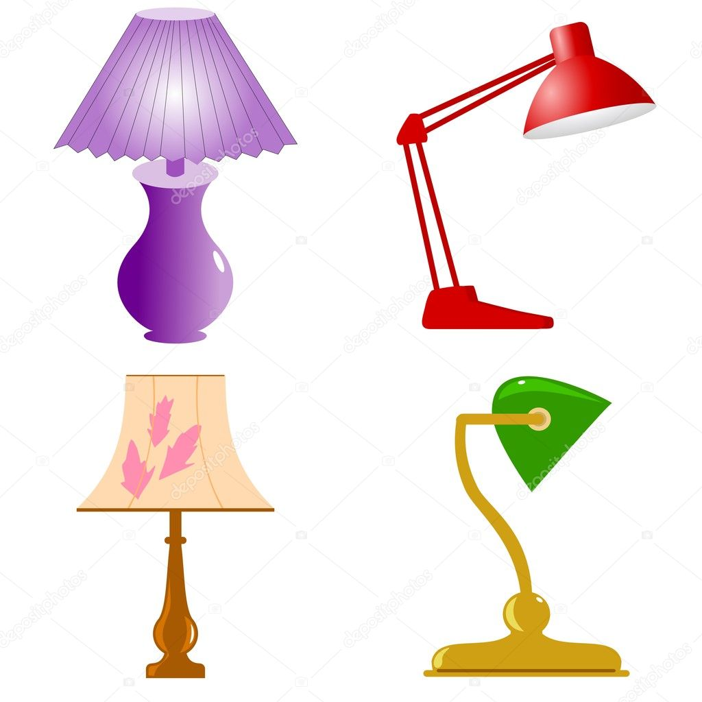 Set of vector table lamps — Stock Vector #4962024