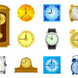 Set of clocks — Stock Vector #4971692