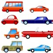 Royalty-Free Stock Vector Image: Set of symbolic cars