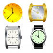 Stock Vector: Set of watches