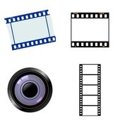 Set of photographic objects — Stock Vector