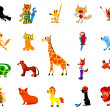 Royalty-Free Stock Vector Image: Set of funny animals