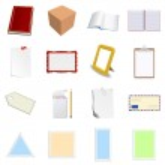 Set of empty papers — Stock Vector